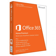 Microsoft Office 365 Home Premium 1 Year - 5 PC's OR Macs (Word/Excel/Powerpoint/OneNote/Outlook)