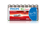 Philips Power Alkaline AAA Battery - 32 Pack